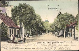 Ak Wendisch Buchholz Märkisch Buchholz in Brandenburg, Breitestraße, Kirche, Anwohner