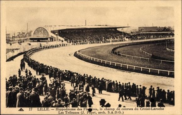 Ak Lille Nord, Hippodrome des Flandres, Champ de courses du Croise Laroche, Tribunes