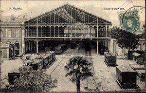 Ak Madrid Spanien, Estacion del Norte, Nordbahnhof