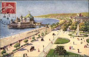 Künstler Ak Nice Nizza Alpes Maritimes, La Promenade des Anglais, Tuck 939 61