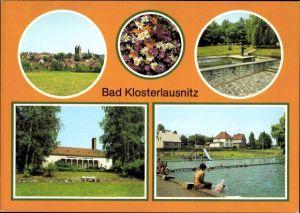 Ak Bad Klosterlausnitz in Thüringen, Übersicht, Kurpark, Sanatorium Dr. Friedrich Wolf, Freibad