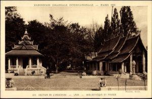 Ak Paris Frankreich, Exposition Coloniale Internationale 1931, Section de l'Indochine, Laos, Pagode
