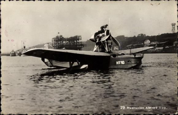 Ak Hydravion Amiot 110, Französisches Militärflugzeug, Wasserflugzeug, HT10