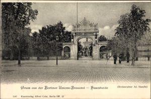 Ak Berlin Kreuzberg, Berliner Unions Brauerei Hasenheide, Inh. Ad. Staudte