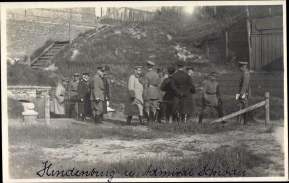 Foto Ak Generalfeldmarschall Paul von Hindenburg, Admiral Ludwig von Schröder, I. WK