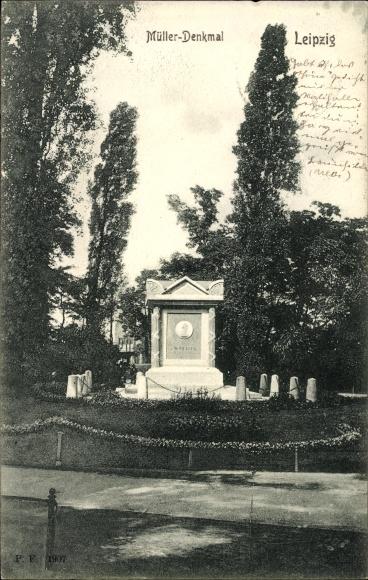Ak Leipzig in Sachsen, Blick auf das Müller Denkmal