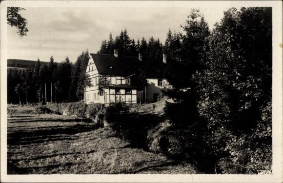 Ak Neudorf Sehmatal im Erzgebirge, Blick zum Chemnitzer Wanderheim an der Vierenstraße