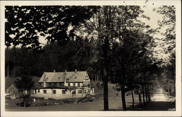 Ak Neudorf Sehmatal im Erzgebirge, Chemnitzer Wanderheim an der Vierenstraße
