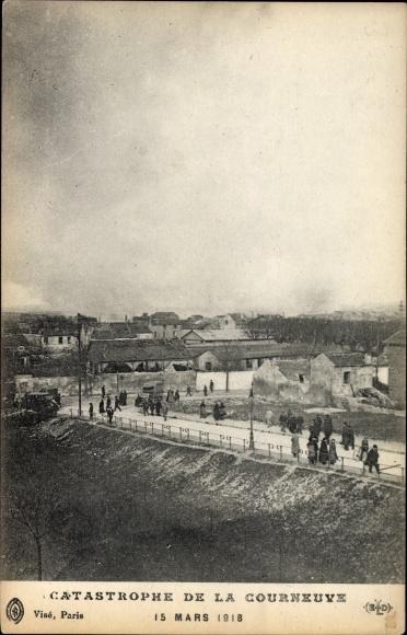 Ak La Courneuve Seine Saint Denis, Catastrophe le 15 Mars 1918, Explosion de l'usine de grenades