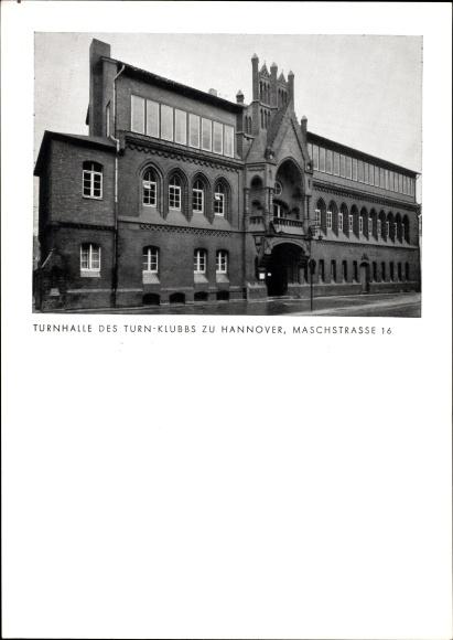 Ak Hannover in Niedersachsen, Turnhalle des Turn Klubs, Maschstraße 16
