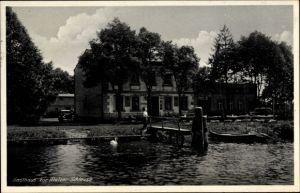 Ak Malz Oranienburg im Kreis Oberhavel, Gasthaus zur Malzer Schleuse, Inh. Paul Rönnebeck