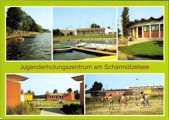 Ak Wendisch Rietz im Kreis Oder Spree, Jugenderholungszentrum am Scharmützelsee, Volleyballplatz