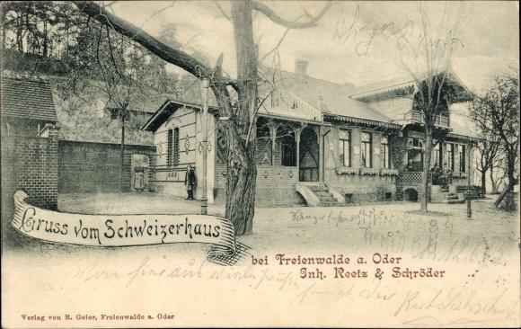 Ak Bad Freienwalde an der Oder, Gasthaus Schweizerhaus von Reetz und Schröder