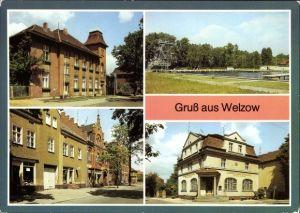 Ak Welzow in der Niederlausitz, Rat der Stadt, Freibad, Kreissparkasse, Spremberger Straße