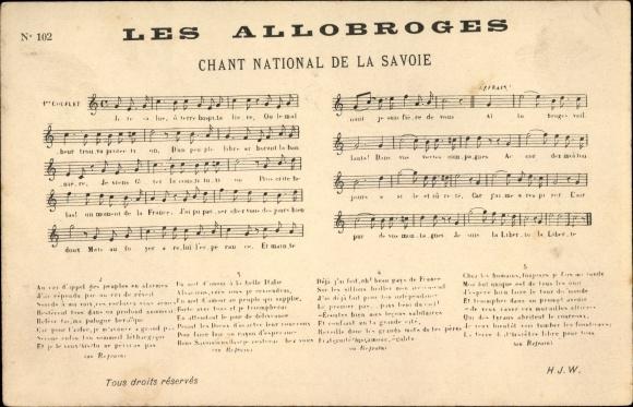 Lied Ak Les Allobroges, Chant National de la Savoie