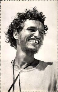 Ak Französisch Westafrika, AOF, Type de Maure, Portrait von einem Afrikaner, Locken