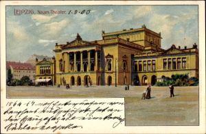 Künstler Ak Leipzig in Sachsen, Partie am Theater