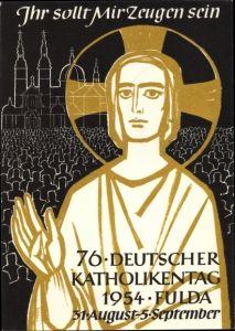 Ak Fulda in Osthessen, 76. Deutscher Katholikentag 1954, Jesus