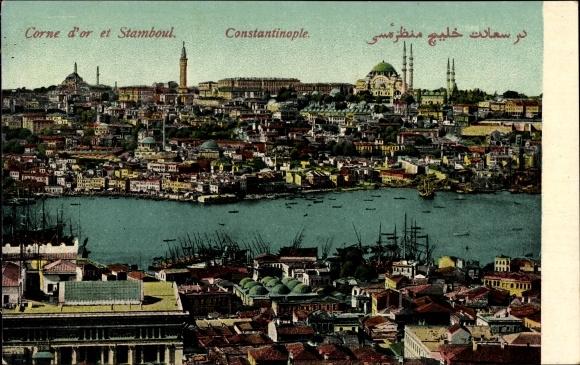 Ak Konstantinopel Istanbul Türkei, Corne d'Or