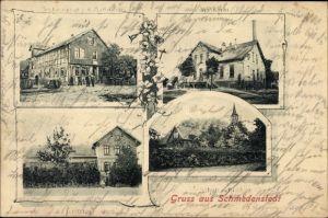 Ak Schmedenstedt Peine in Niedersachsen, Schule, Kirche, Molkerei, Försterei, Gasthof
