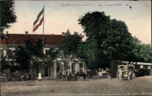 Ak Pechau Magdeburg in Sachsen Anhalt, Gasthaus Louisenthal, Bes. Herm. Dichte, Droschke