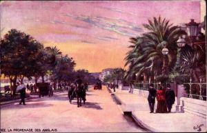 Künstler Ak Nice Nizza Alpes Maritimes, La Promenade des Anglais, Tuck Serie 938 P No. 59