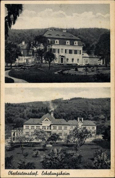 Ak Horní Litvínov Oberleutensdorf Litvínov Leutensdorf Reg. Aussig, Erholungsheim, Teilansichten