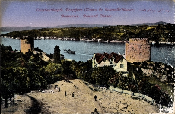 Ak Konstantinopel Istanbul Türkei, Bosporus, Roumeli Hissar