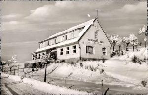 Ak St. Andreasberg Braunlage im Harz, Blick auf Berghotel Hubertus, im Winter