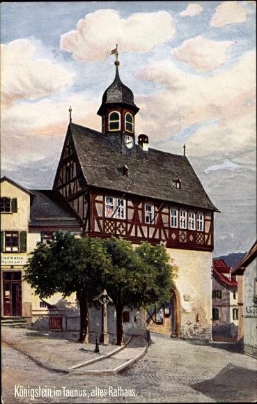 Künstler Ak Königstein im Taunus Hessen, Altes Rathaus, WIRO No. 2080 A
