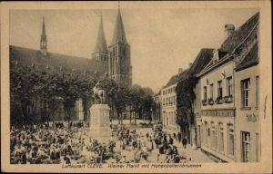 Ak Kleve am Niederrhein, Kleiner Markt mit Hohenzollernbrunnen, Gasthof zum großen Kurfürsten