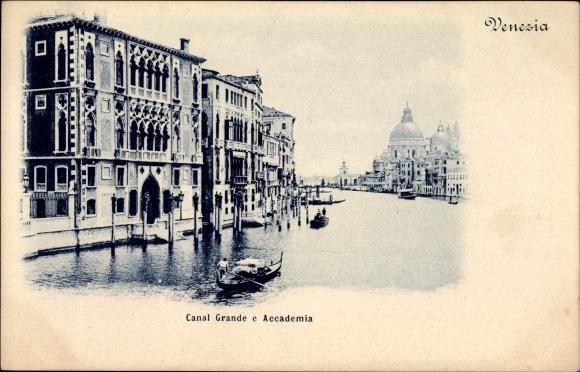 Ak Venezia Venedig Veneto, Canal Grande e Accademia, Gebäude, Gondeln