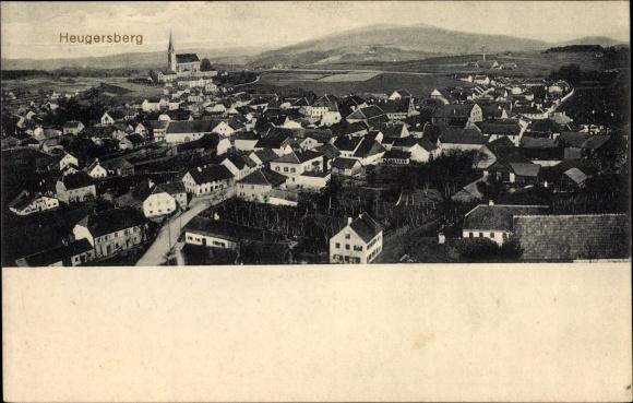 Ak Hengersberg Niederbayern, Blick über die Dächer des Ortes, Kirche, Umgebung