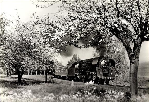 Ak Deutsche Eisenbahn, Dampflokomotive, Tender 01 512 mit E 805, Leipzig Sonneberg