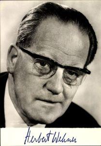 Ak Herbert Wehner, MdB, Vorsitzender der SPD Bundestagsfraktion