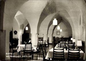 Ak Goslar in Niedersachsen, Rats- Weinkeller, Inh. A. Emmermann