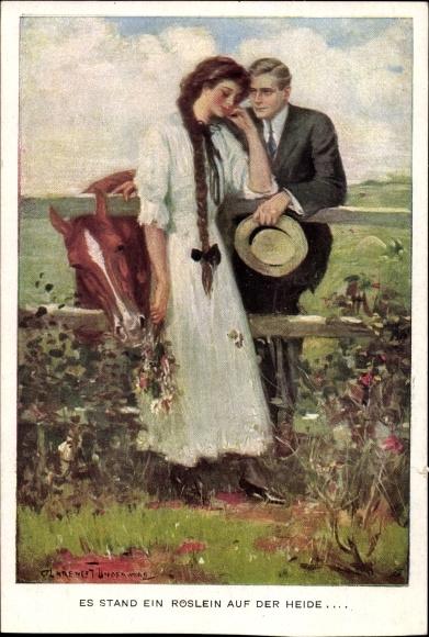 Künstler Ak Underwood, Clarence, Es stand ein Röslein auf der Heide, Munk Nr 834 C