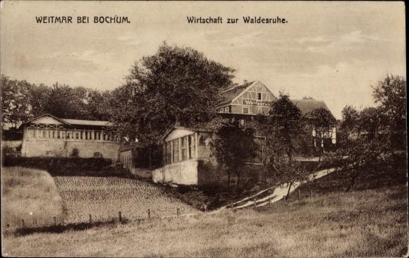 Ak Weitmar Bochum im Ruhrgebiet, Wirtschaft zur Waldesruhe, Bes. Heinr. Borgböhmer