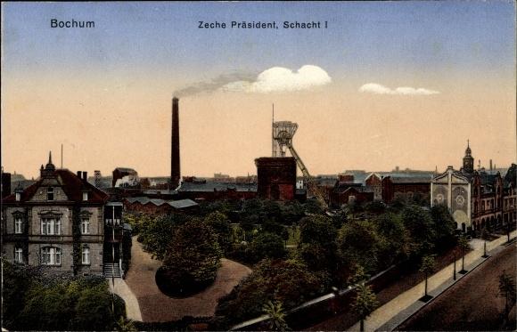 Ak Bochum im Ruhrgebiet, Zeche Präsident, Schacht I