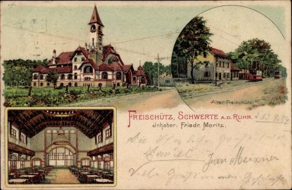 Ak Schwerte im Ruhrgebiet Kreis Unna, Alter Freischütz, Inh. F. Moritz