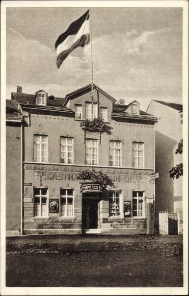 Ak Boppard im Rhein Hunsrück Kreis, Blick auf das Gasthaus zum Bahnhof, Inh. G. Grass