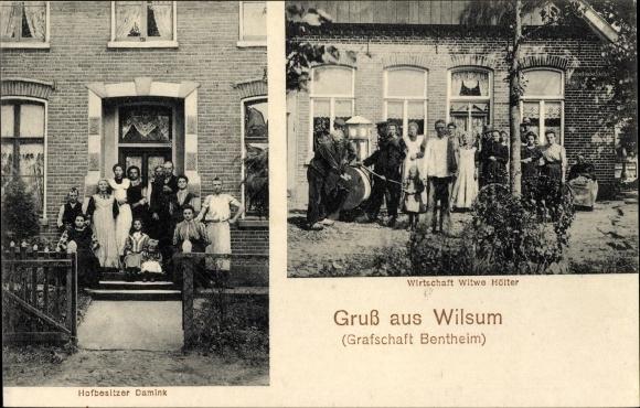 Ak Wilsum in Niedersachsen, Hofbesitzer Damink, Wirtschaft Hölter