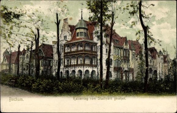 Ak Bochum im Ruhrgebiet, Blick auf den Kaiserring vom Stadtpark