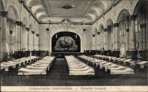 Ak Lüdenscheid im Märkischen Kreis, Blick in die Schützenhalle, Reserve Lazarett
