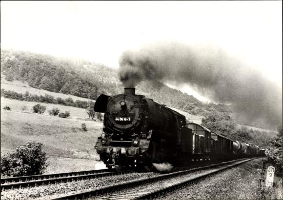 Ak Deutsche Eisenbahn, Dampflokomotive bei Porstendorf, Tender 44 0618 7