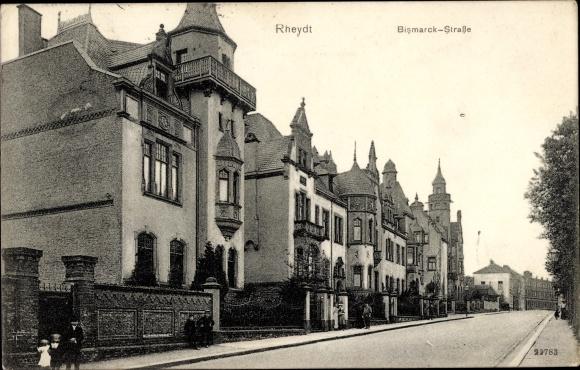 Bismarckstraße Mönchengladbach ak rheydt mönchengladbach niederrhein partie in der bismarckstraße