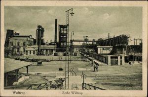 Ak Waltrop im Ruhrgebiet, Blick auf die Zeche, Förderturm