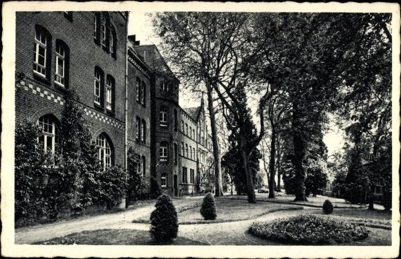 Ak Hamb Sonsbeck am Niederrhein, St. Bernardin, Ansicht der Gartenanlagen
