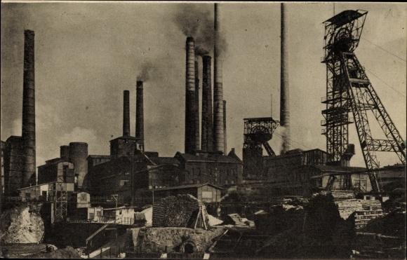 Ak Essen im Ruhrgebiet, Zeche Victoria Mathias u. R. W. E.