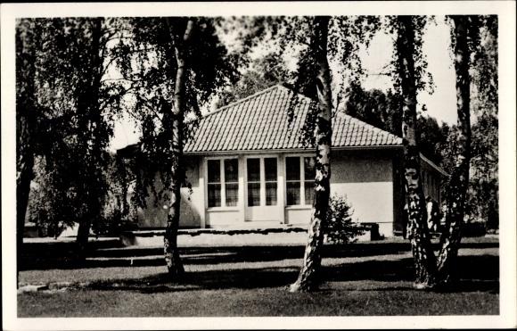 Ak Elstal Wustermark Brandenburg, Olympisches Dorf, Wohnhaus an der oberen Dorfaue